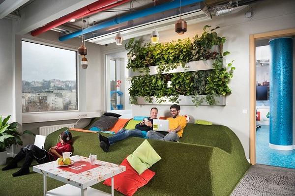 Almofadas decorativas para espaço de convivência