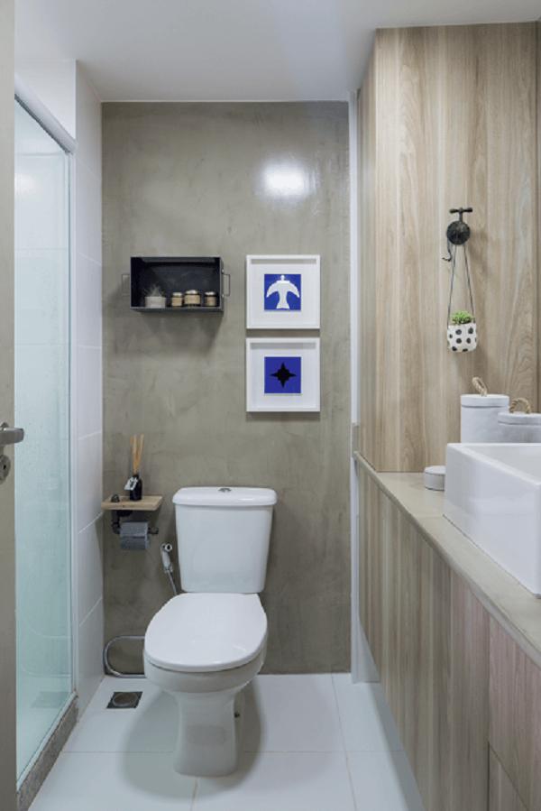 Banheiro pequeno decorado estiloso