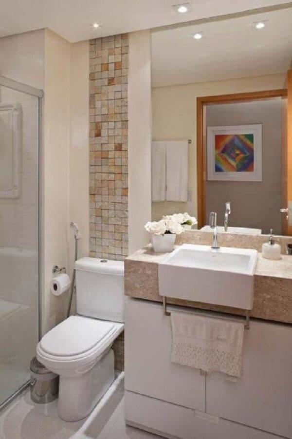 Banheiro pequeno decorado requintado