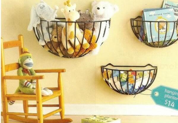 Como organizar o quarto de criança com cestinhas