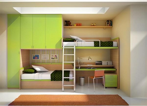 Como organizar quarto com cama beliche