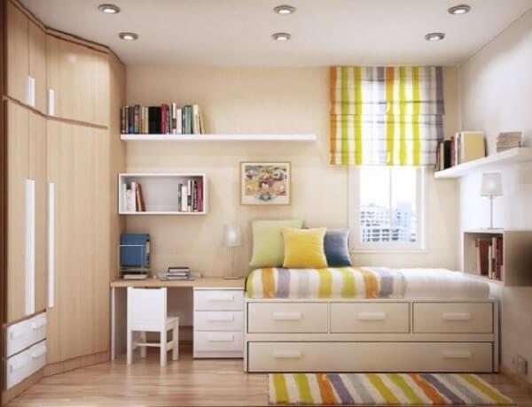 Como organizar quarto pequeno com armário
