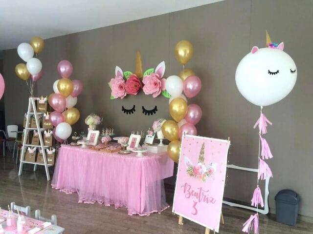 Festa de unicórnio com predomínio do cor de rosa Foto de Air Freshener