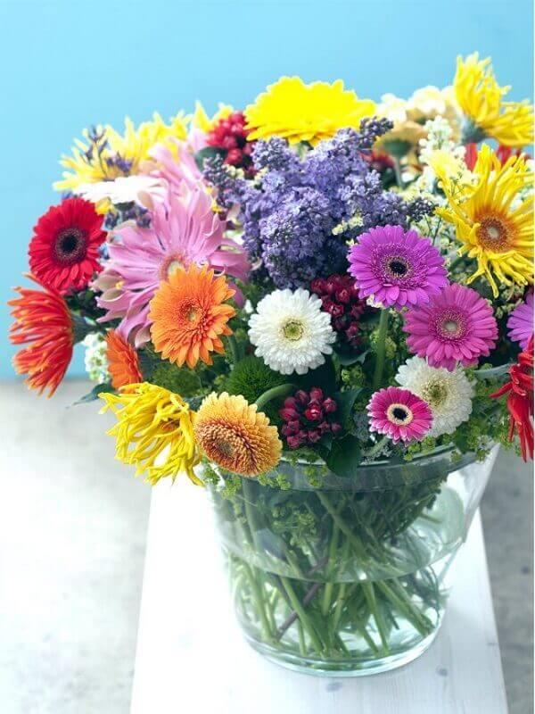 Flores do campo gérberas coloridas