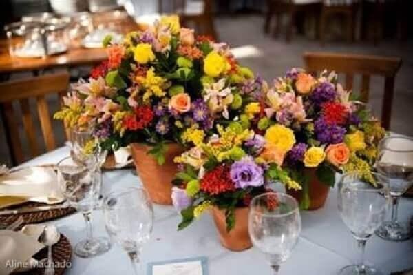 Flores do campo na decoração de eventos