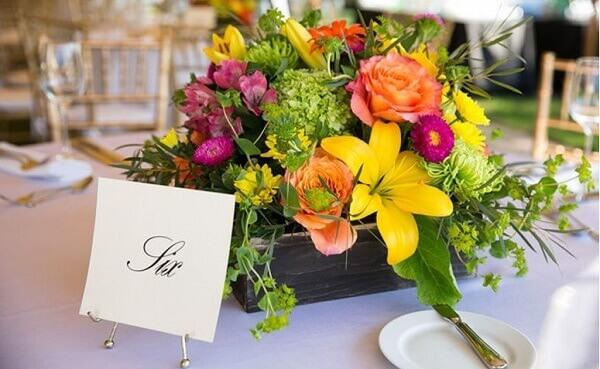 Flores do campo para centro de mesa