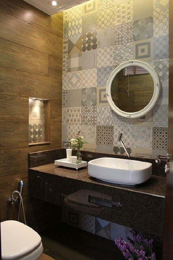 Marrom granito bahia para banheiro rústico