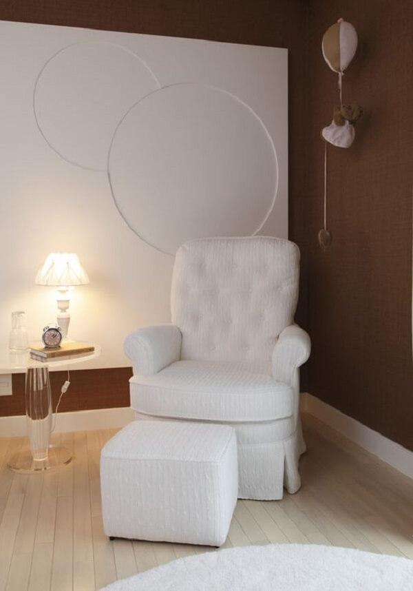 Marrom na decoração do quarto de bebê