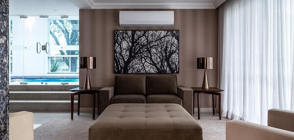 Marrom para sala de estar grande