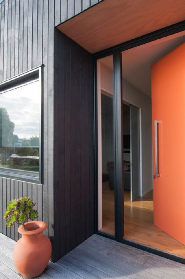 O laranja da porta de entrada quebra a neutralidade da porta de entrada. Fonte: Pinterest