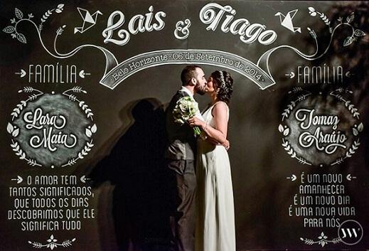 Painel de chalkboard em festa de casamento Foto de Patricia Noivas e Festas