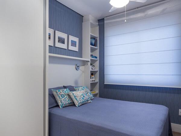 Persianas para quarto azul