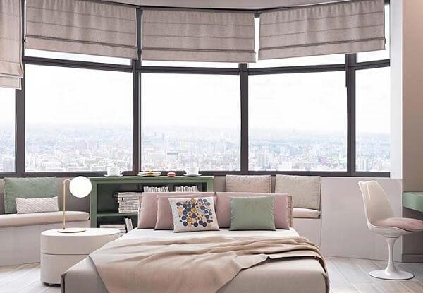 Persianas para quarto em formato circular