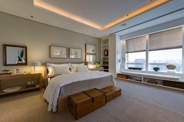Persianas para quarto em janela grande
