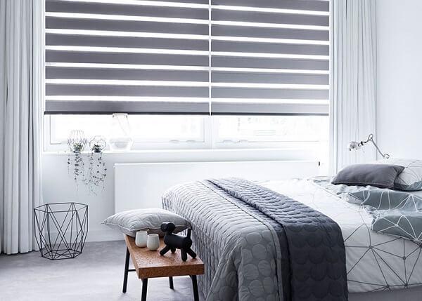 Persianas para quarto na cor cinza