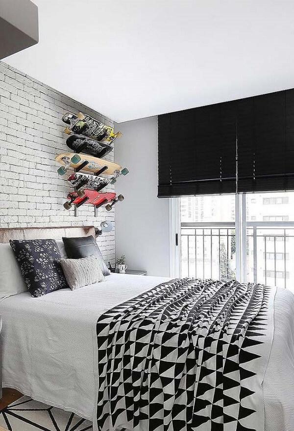 Persianas para quarto na cor preta
