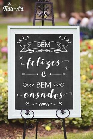 Placa de casamento de chalkboard Foto de Tutti Art