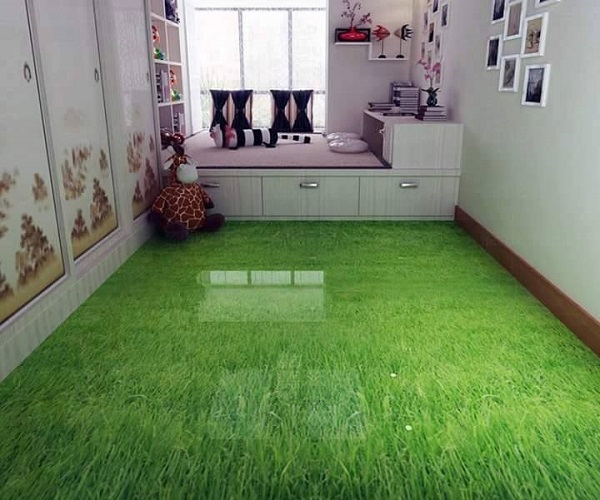 Porcelanato líquido em quarto infantil