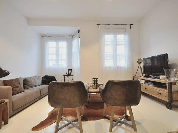Porcelanato líquido em sala de tv
