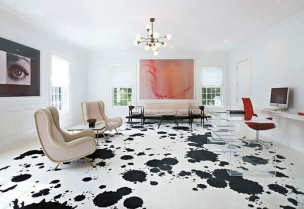 Porcelanato líquido em sala moderna