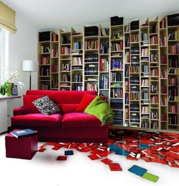 Porcelanato liquido em espaço de leitura