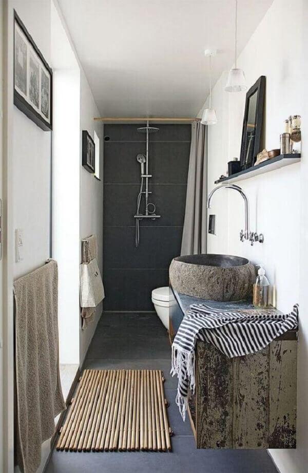 Tapete para banheiro bambu