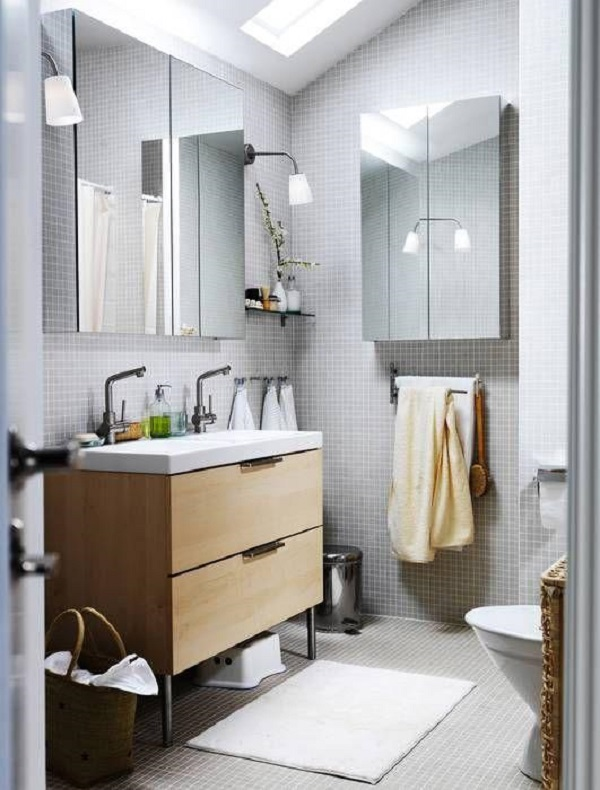 Tapete para banheiro bonito e simples
