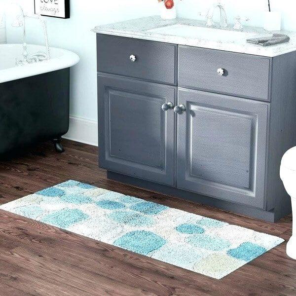 Tapete para banheiro grande comprido