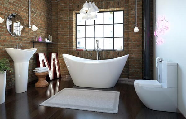 Tapete para banheiro quadrado