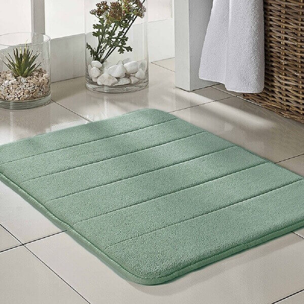 Tapete para banheiro verde