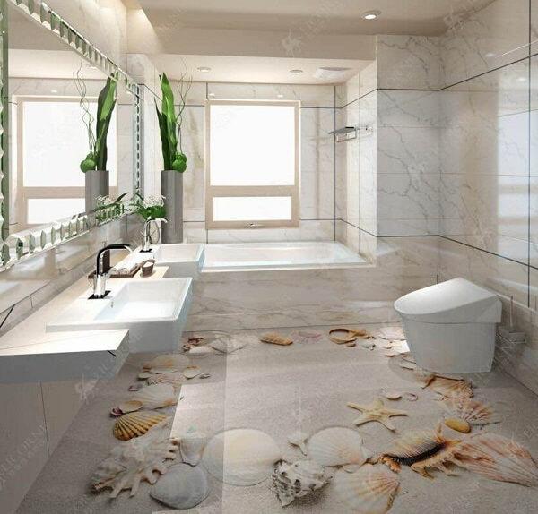 Transforme a decoração do seu banheiro com o porcelanato 3D