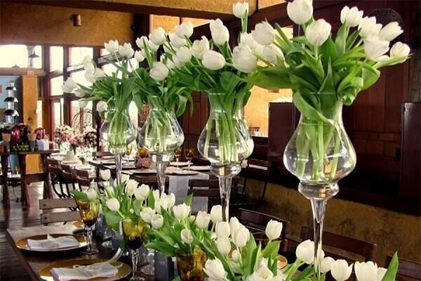 Tulipa branca para decoração de ambiente