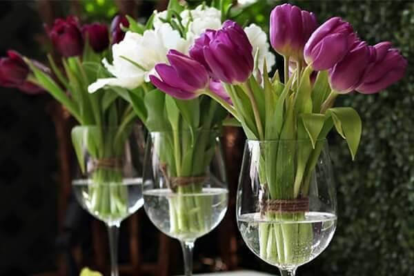 Tulipa para decoração de casamento