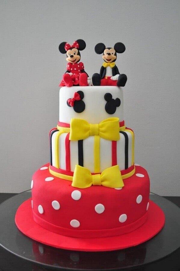 bolo de aniversário do mickey e minnie tres andares Foto Air Freshener