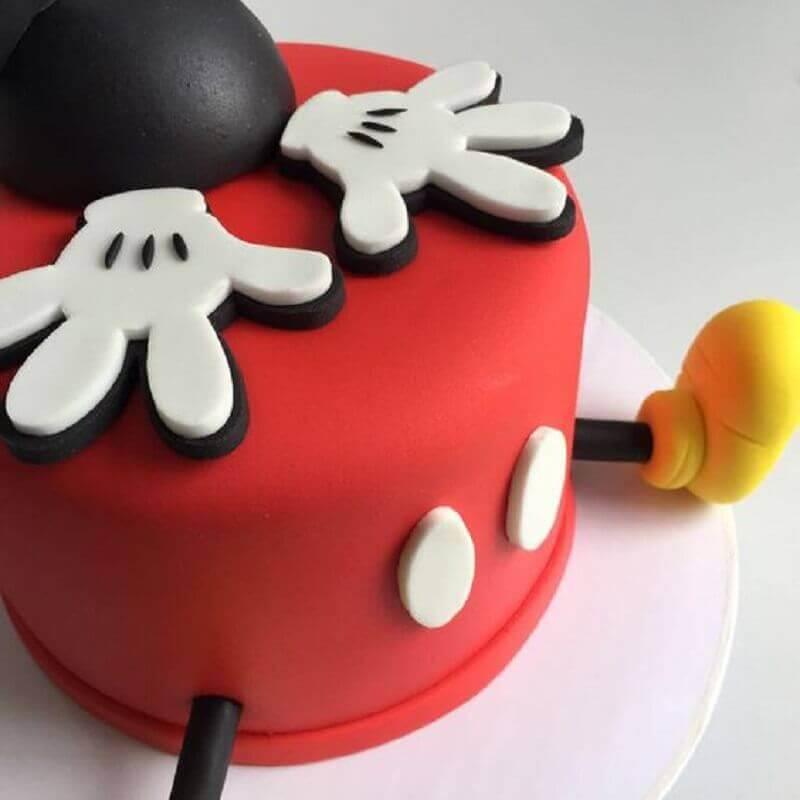 bolo decorado do mickey divertido Foto Pinosy