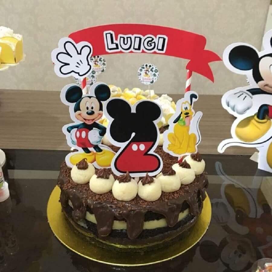 bolo decorado do mickey simples Foto Sweet Party Festas