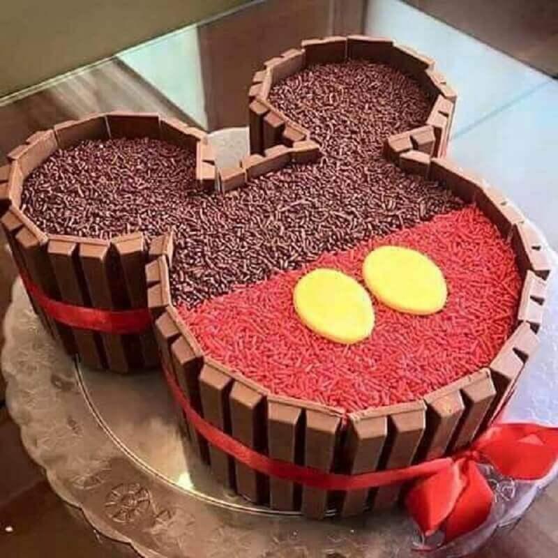 bolo decorado do mickey simples Foto We Heart It