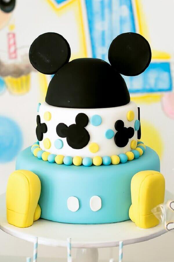 bolo personalizado para decoração mickey baby Foto Salle de Bain