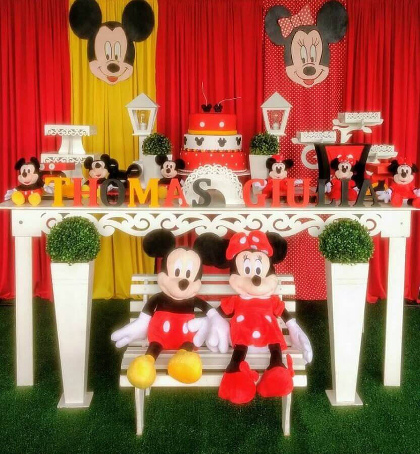 decoração clássica mickey e minnie Foto Vovó Corujinha