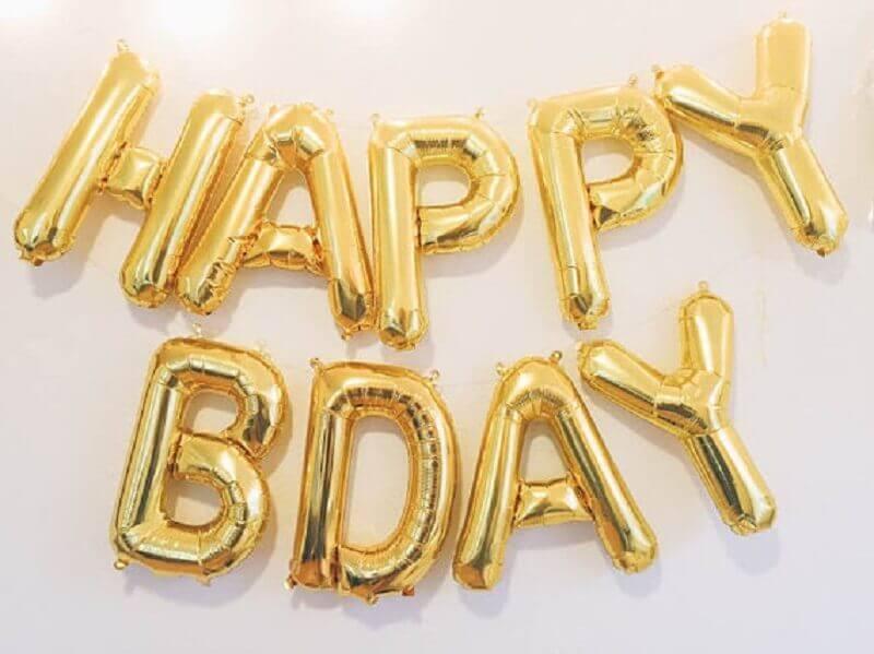 decoração de aniversário com balões dourados Foto Air Freshener