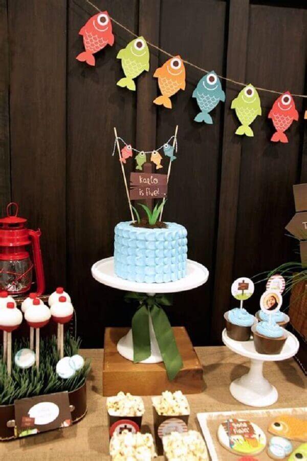 decoração de aniversário com tema pescaria Foto Parties and Picnics