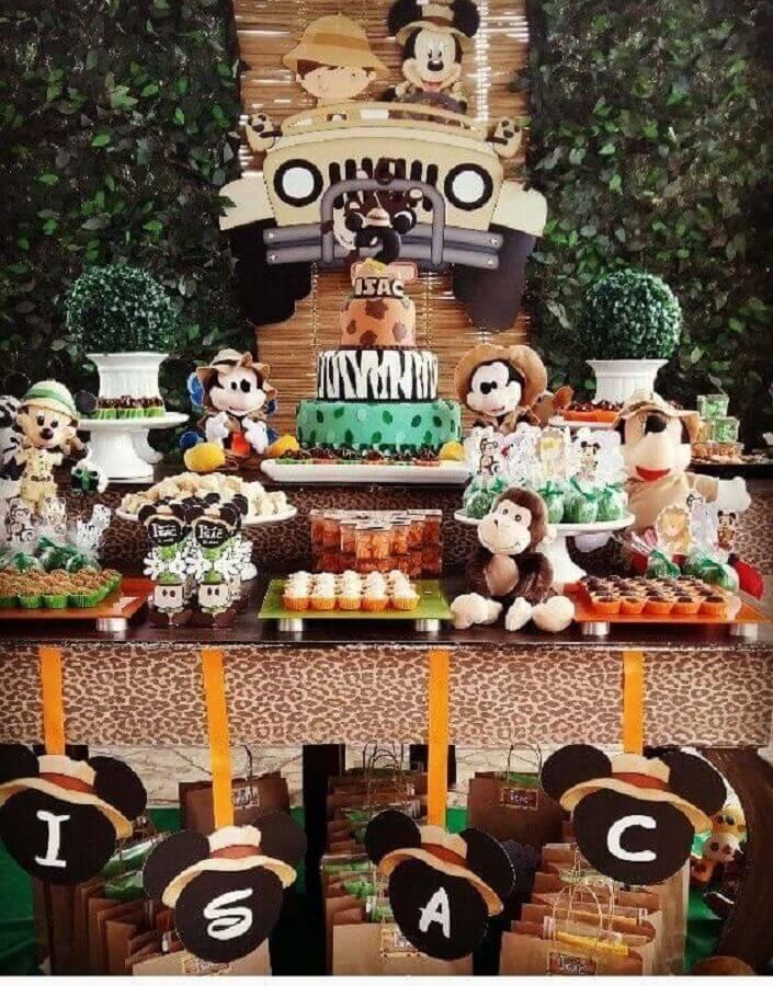 decoração festa do mickey safári Foto Pinosy