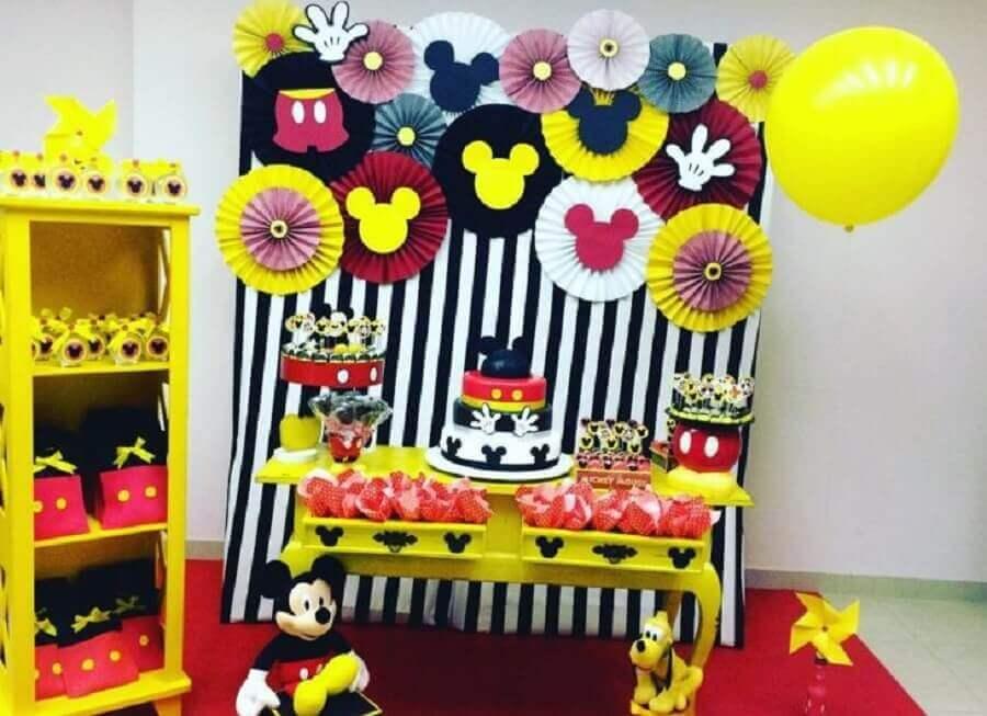 decoração festa infantil mickey simples Foto Papel de Seda