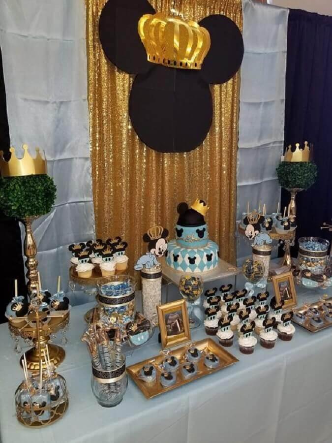 decoração mickey baby azul e dourado Foto Air Freshener