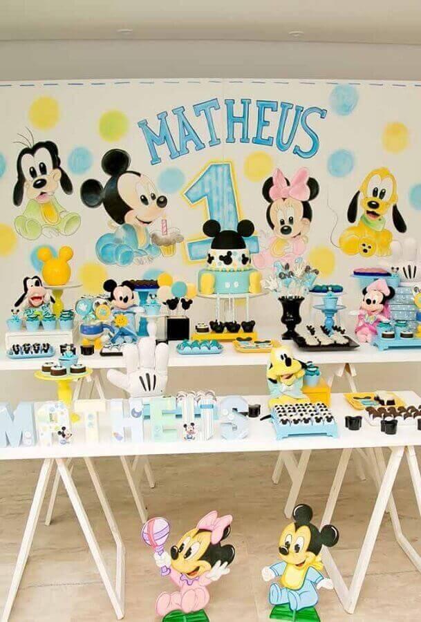 decoração mickey e minnie baby Foto Pinterest