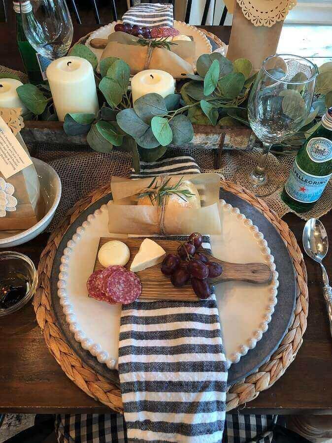 decoração rústica para mesa de frios para casamento Foto Pinterest