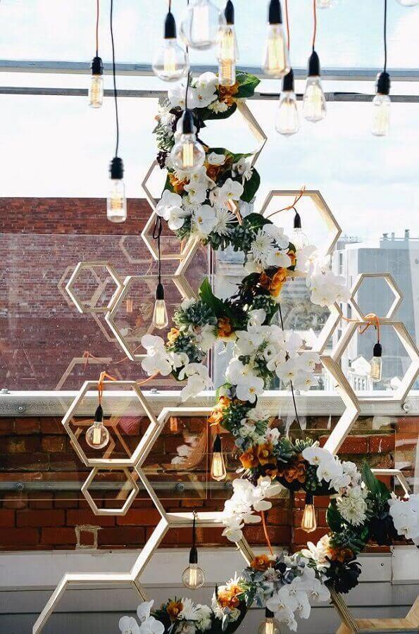 detalhes modernos para decoração de noivado simples Foto The Style Co.