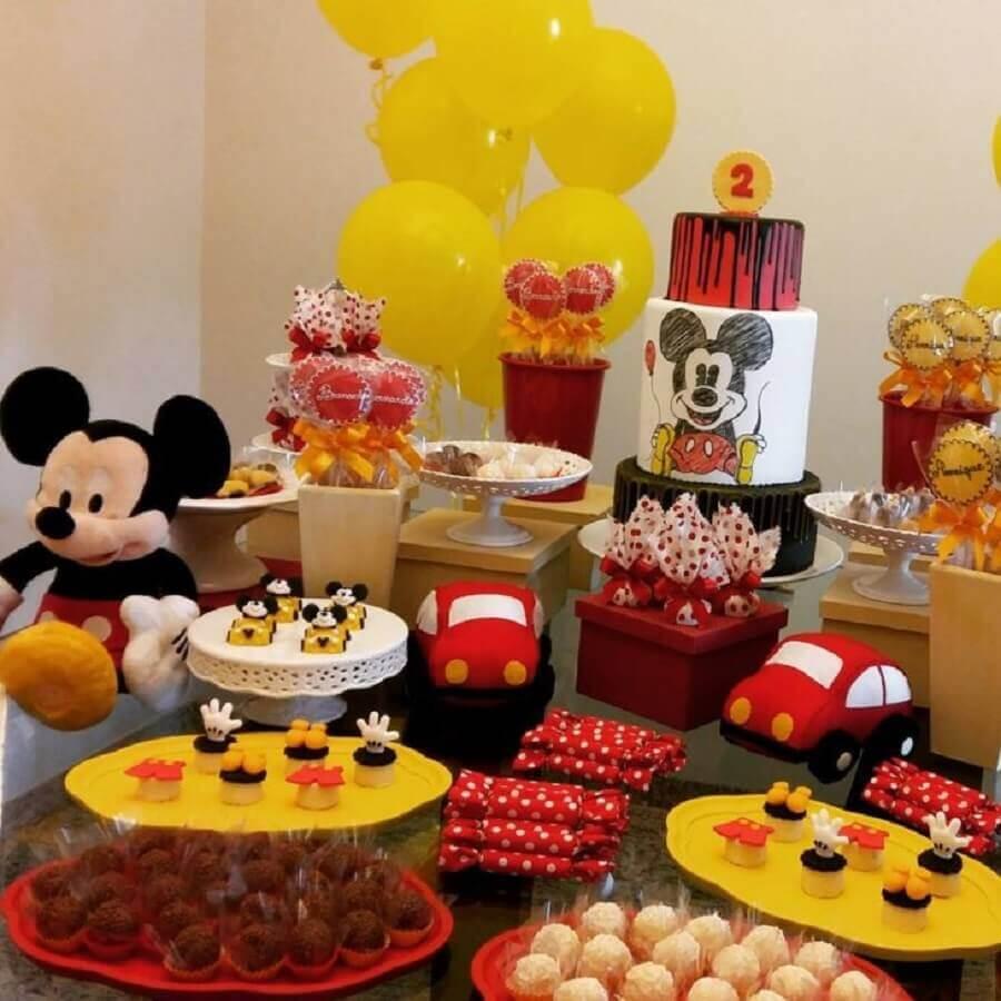 detalhes para decoração festa do Mickey Foto Doce Eve Ateliê