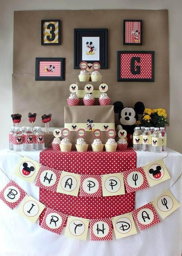 ideia para decoração festa infantil mickey simples Foto 321achei