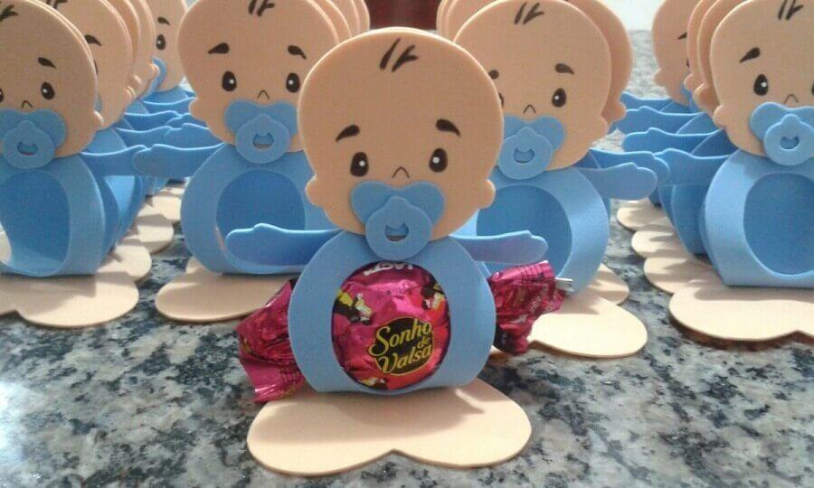 lembrancinhas de chá de bebê de eva com bombom Foto Try Not Laughs